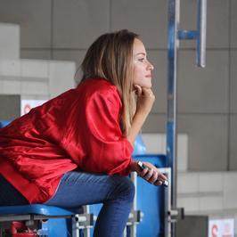 Alicja Bachleda-Curuś oglądała Marcina Gortata z trybun