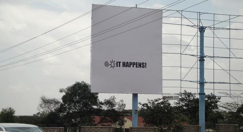 A billboard that was put up by an Insurance company in Nairobi in a past advertising campaign (Twitter)