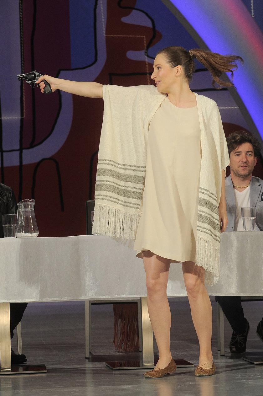 Anna Dereszowska w ciąży na scenie