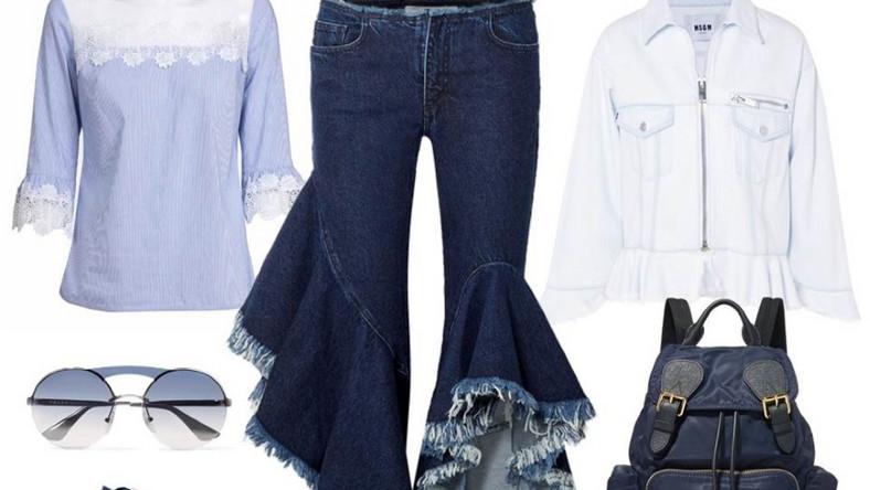 Przede wszystkim w tym roku z jeansu możemy znaleźć każdy element garderoby: zaczynając od oczywistych spodni i kurtek przez koszule, płaszcze i spódnice, kończąc na dodatkach, czyli na butach, plecakach i okryciach głowy.