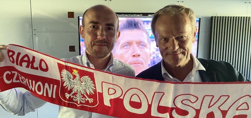 Donald Tusk oglądał mecz z Borysem Budką