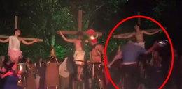 Chciał uratować Jezusa przed ukrzyżowaniem. Zaskakujące wideo!