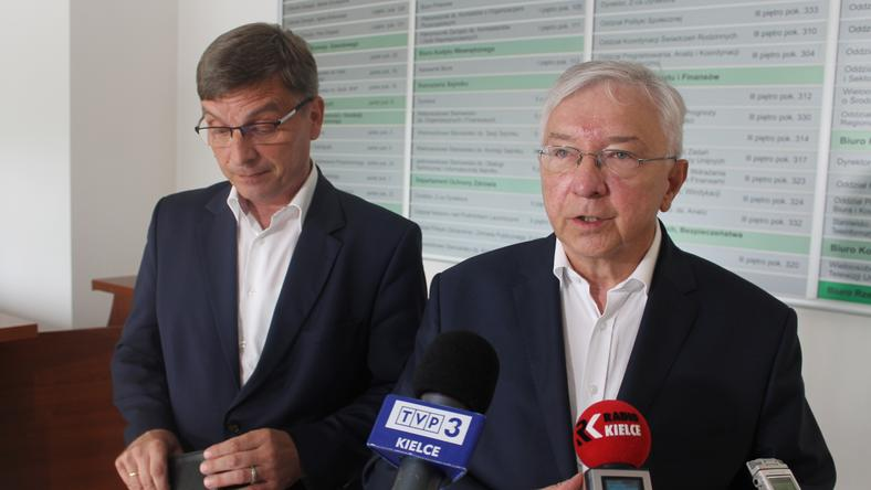 Andzrej Pruś i Krzysztof Lipiec z PiS