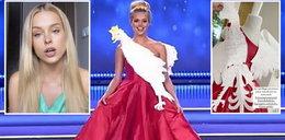"""Natalia Balicka nie wytrzymała. Wyraźnie wzburzona powiedziała, co sądzi o sukni z """"orłem"""":  Godziłam się na coś zupełnie innego"""
