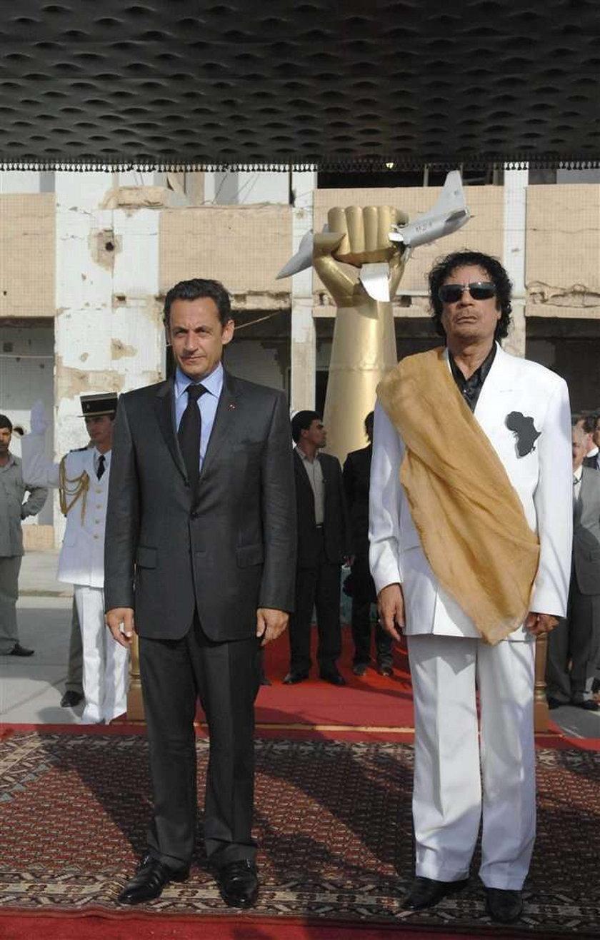 Skandal we Francji! Kaddafi płacił Sarkozy'emu