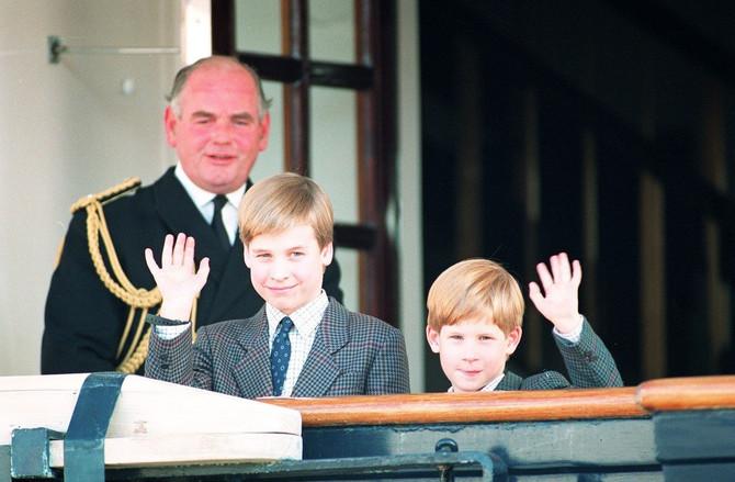 Princ Hari sa bratom Vilijamom 1991. godine