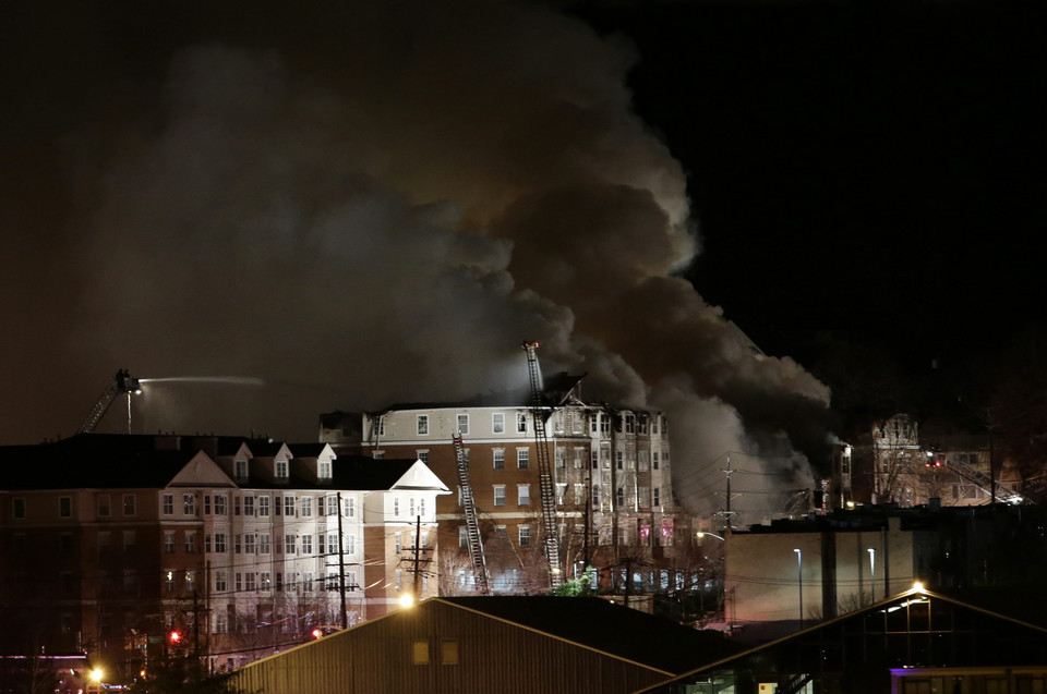 USA FIRE  (Apartment building fire in New Jersey)