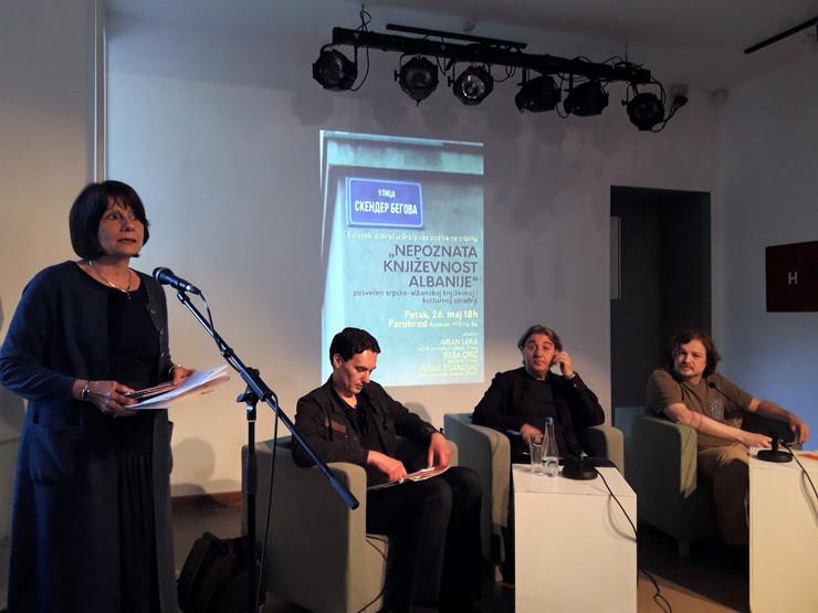 Jelica Minić na tribini o kulturnoj saradnji Srbije i Albanije, 26. maj, Parobrod