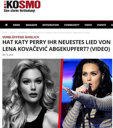 Završila je u svetskim medijima zbog Kejti Peri: Oglasila se Lena Kovačević!