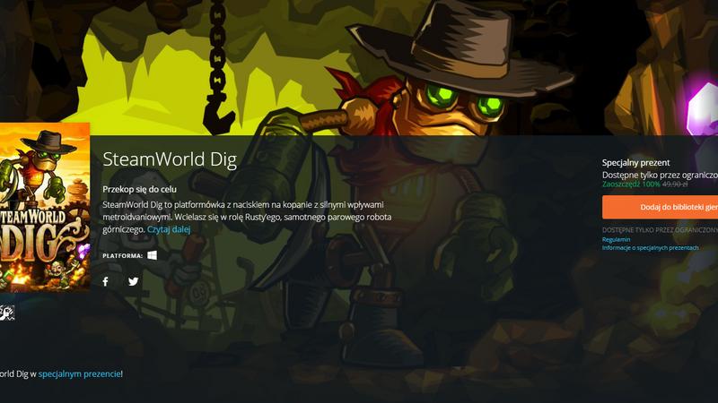 SteamWorld Dig za darmo w Origin