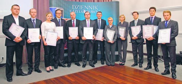 Zwycięzcy oraz wyróżnieni w ósmym rankingu kancelarii prawnych DGP. Fot. Wojciech Górski