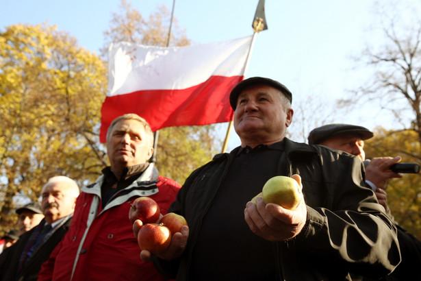 W stolicy około 500 rolników protestowało przeciwko polityce rządu i Unii Europejskiej, które ich zdaniem niewystarczająco wspierają producentów jabłek.