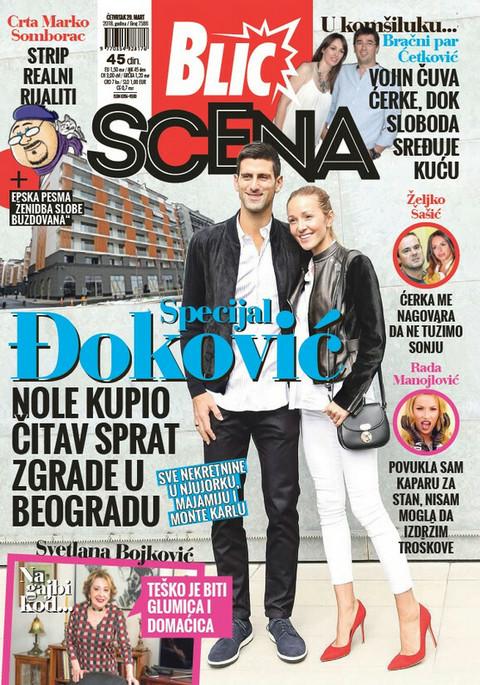 """EKSKLUZIVNO, DANAS UZ """"BLIC"""" POKLON DODATAK """"SCENA""""! Otkrivamo: Đoković kupio čitav sprat zgrade u Beogradu"""