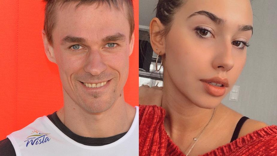 Piotr Żyła i Marcelina Ziętek