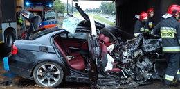 Masakra na drodze w Lublinie! Roztrzaskane BMW