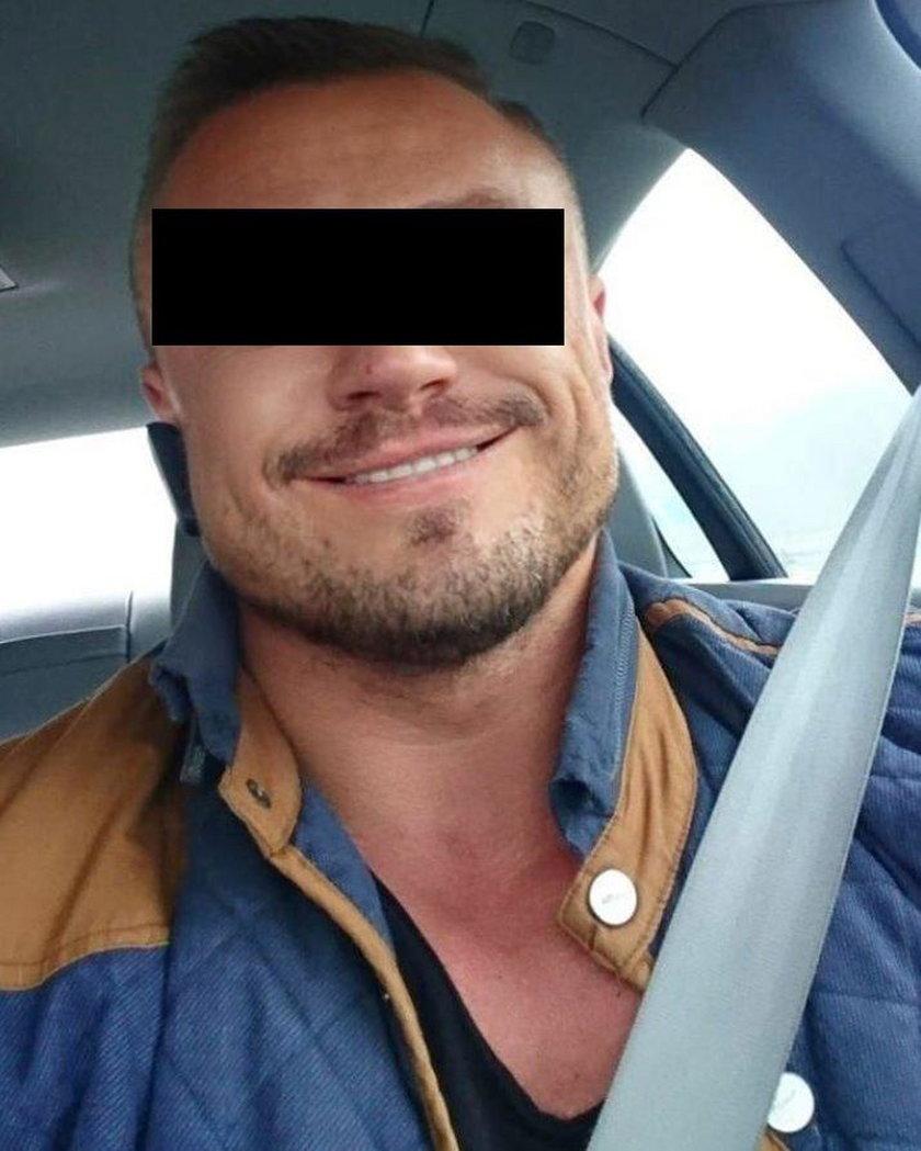 Miłosz P. (36 l.) - znany w Trójmieście trener personalny oskarżony o pobicie dziewczyny