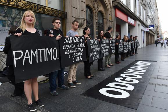 Protest u Knez Mihailovoj