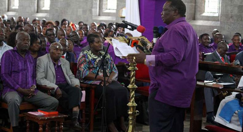 File image of Francis Atwoli at a past church service