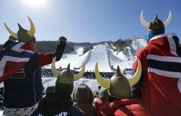Norveški navijači u Pjongčangu