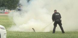 Mężczyzna podpalił się przed Białym Domem. Wstrząsający film