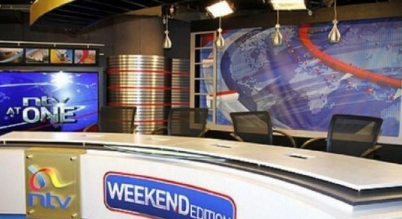 An image of an empty NTV studio