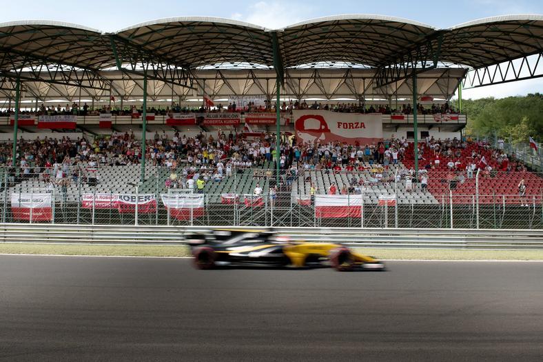Robert Kubica podczas testów na Hungaroring