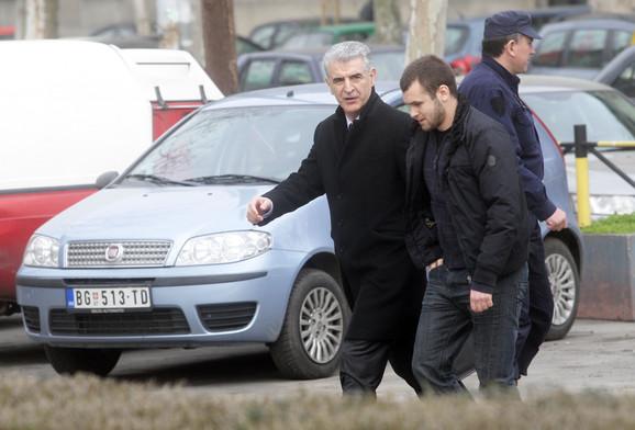 Advokat Borivoje Borović i Uroš Mišić