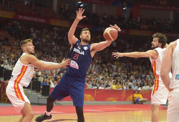 Milutinov na meču Srbija - Španija