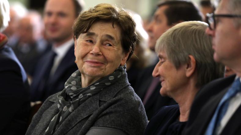 Zofia Romaszewska w trakcie państwowych obchodów Święta Niepodległości