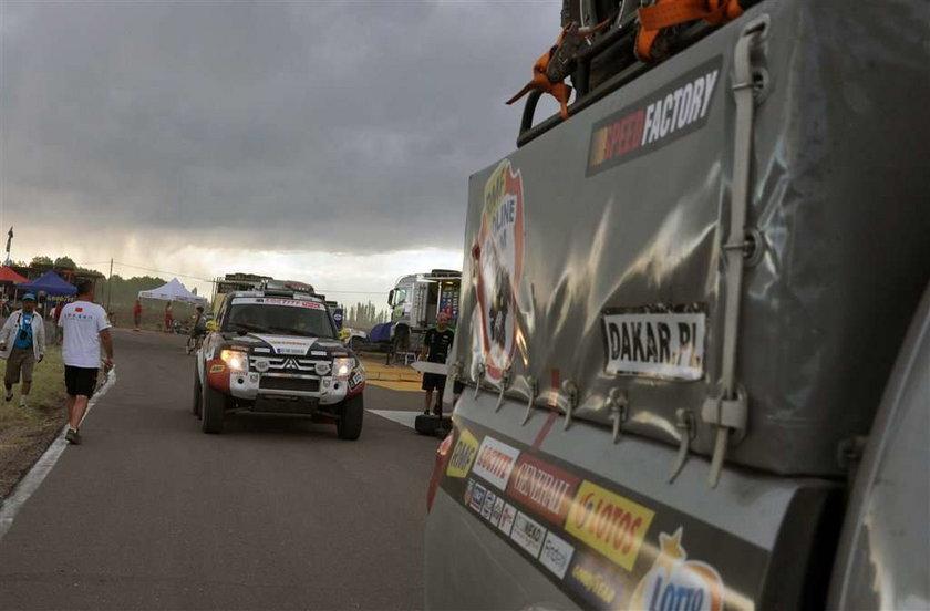 Załoga Mąlysz - Gryszczuk mieli szczęście bo na trasie Dakaru w trakcie jazdy na drogę wyszła im krowa