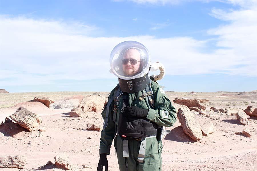 Krzysztof Jędrzejak dokumentował przebieg misji. To on jest autorem większości zdjęć z Exo.17.