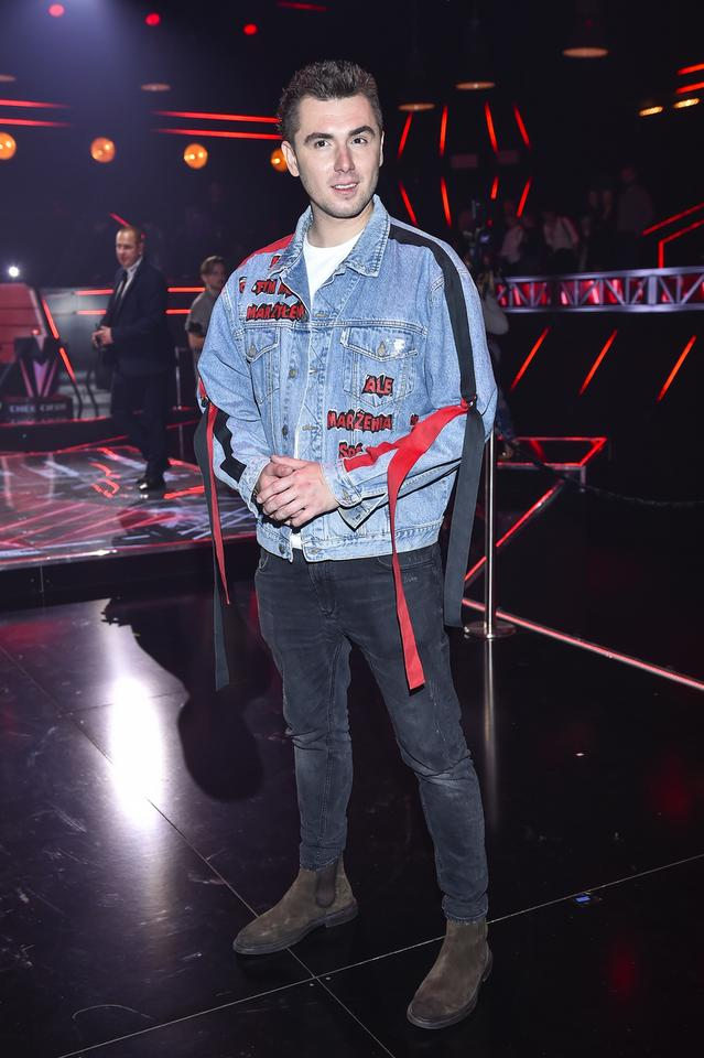 "Kamil Bednarek na planie ""The Voice of Poland 10"""