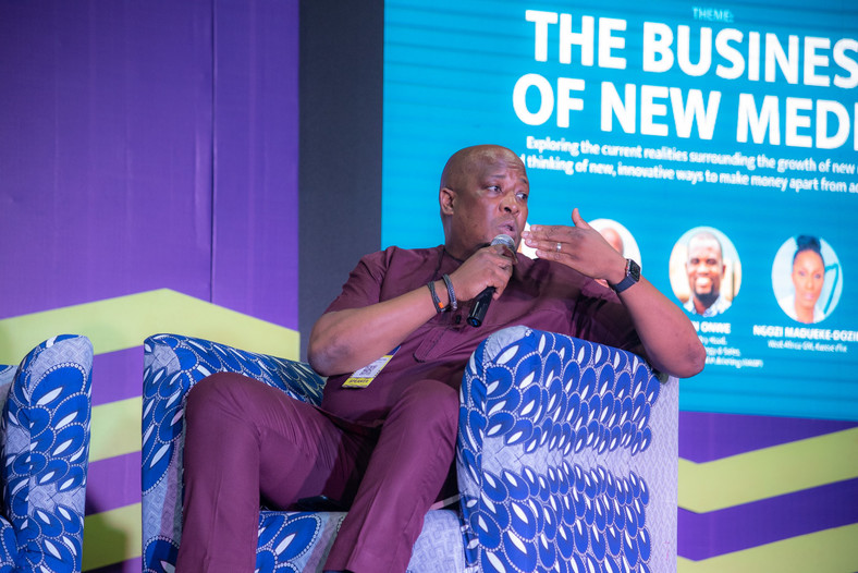 Martin Mabutho, Chief Customer Officer, MultiChoice Nigeria at the Business Insider by Pulse session at the Social Media Week Lagos 2019