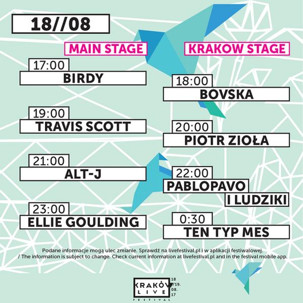 Kraków Live Festival 2017 - piątek