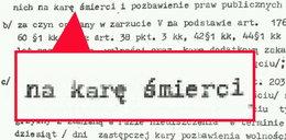 Tak wygląda wyrok śmierci na Trynkiewicza! FOTO
