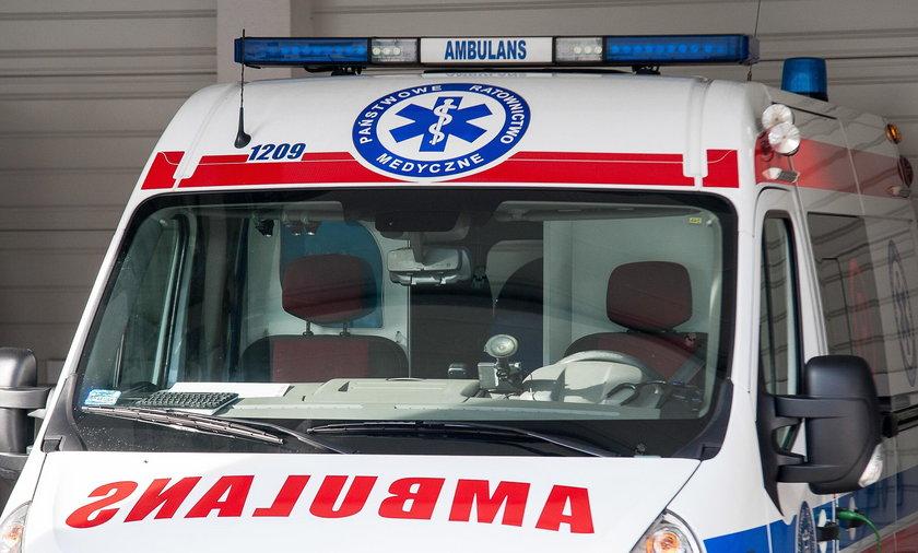 2-latek wypadł z okna. Jest na obserwacji w szpitalu