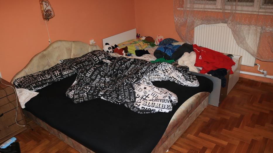 A szörnyeteg mellett kellett aludnia szerencsétlen kicsinek / Fotó: police.hu