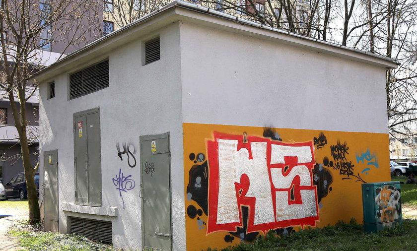 Nielegalne graffiti w Krakowie