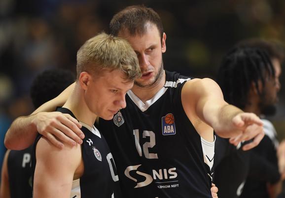 Ognjen Jaramaz i Novica Veličković na meču Partizan - Zadar