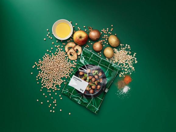 Biljne ćufte pripremaju se od proteina žutog graška, ovasa, krompira, luka i jabuke
