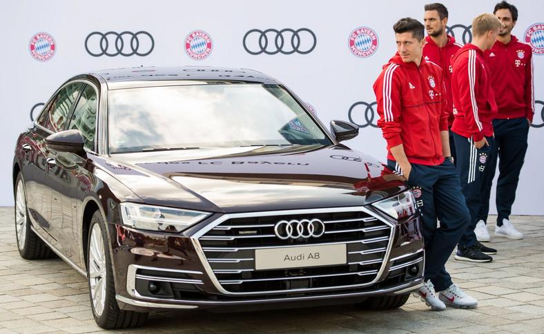 Robert Lewandowski i nowe Audi A8