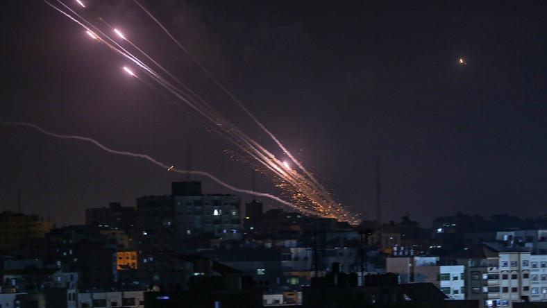 Rakiety, odpalone ze Strefy Gazy