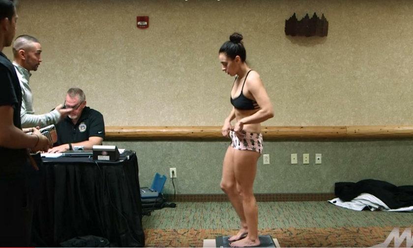 Samantha Diaz rozebrała się, żeby wyrobić wagę przed walką MMA