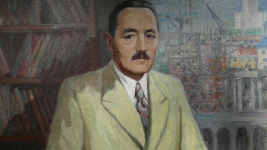 Portret I sekretarza KC PZPR Bolesława Bieruta pędzla Michała Gawlaka z 1955 r. (zdjęcie ilustracyjne)