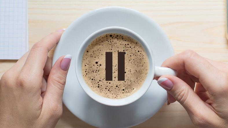 Przerwa w pracy. Kawa
