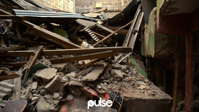 The Lagos Island building that collapsed while it was being demolished