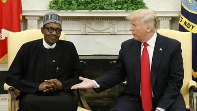 Former US President Donald Trump congratulates Nigeria's President Buhari for banning Twitter