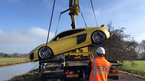 To Audi R8 zaparkowało na dnie rzeki