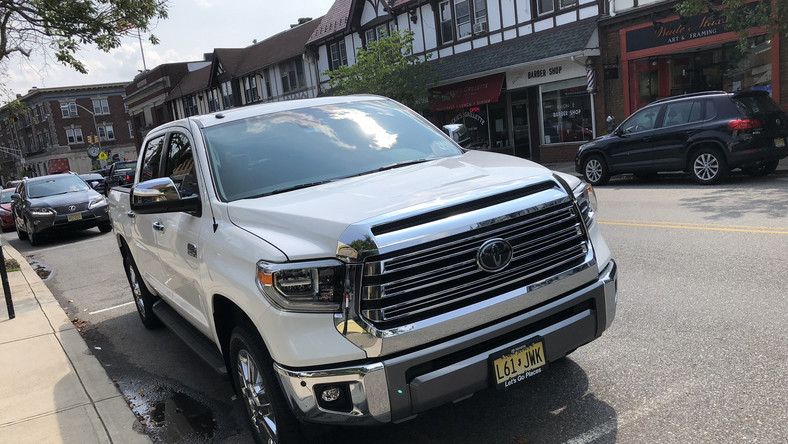 Let's start with the underdog — the Toyota Tundra 1794 Crewmax, tipping the cost scales at about $53,000, landed at our test center in suburban New Jersey last year.