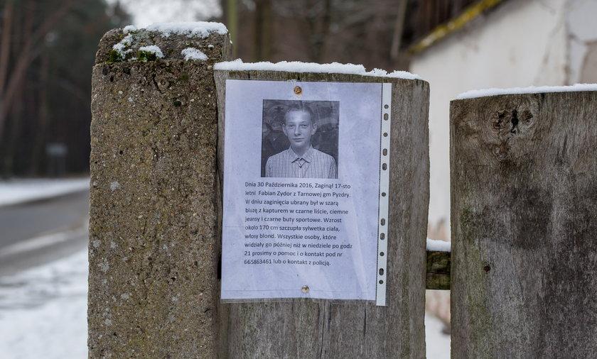 Fabian Zydor zaginął 30 października 2016 r. Miał wtedy 17 lat